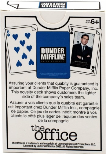 The Office Dunder Mifflin Playing Cards | 52 Card Deck + 2 Jokers Perspective: top