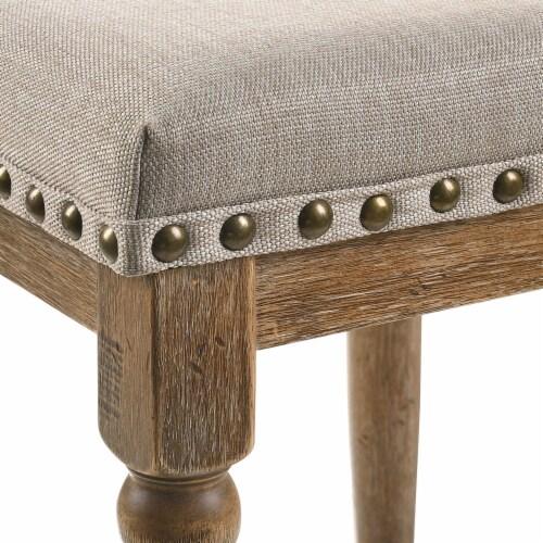ACME Furniture 77177 Farsiris Rubberwood Counter Height Bar Stool, Weathered Oak Perspective: top