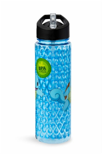 Pokemon Squirtle 16oz Water Bottle - BPA-Free Reusable Drinking Bottles Perspective: top