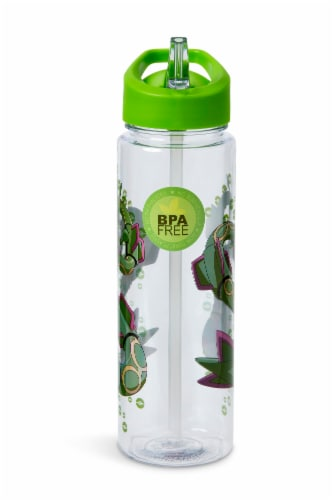 Pokemon Rayquaza 16oz Water Bottle - BPA-Free Reusable Drinking Bottles Perspective: top