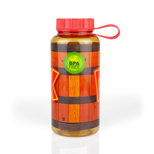 EXCLUSIVE Donkey Kong Water Bottle   Designed to Look Like DK's Barrel   24 Oz. Perspective: top