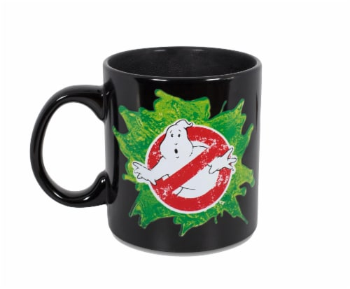 Ghostbusters Logo Ectoplasm Heat-Changing Ceramic Coffee Mug | Holds 20 Ounces Perspective: top