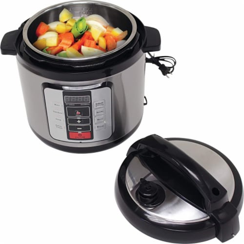 Precise Heat KTELPCS Electric Pressure Cooker Stainless Steel inner Pot - 6.3 qt Perspective: top