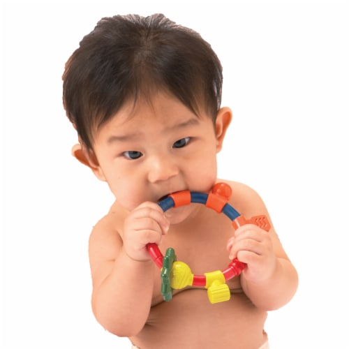 Toys by People® Brain Builders™ - Shape Up Teething Ring Perspective: top