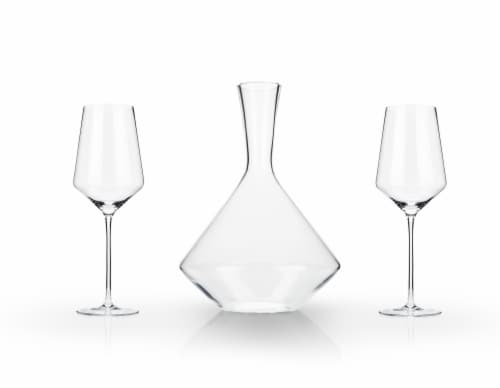 3-Piece Angled Crystal Bordeaux Set by Viski® Perspective: top