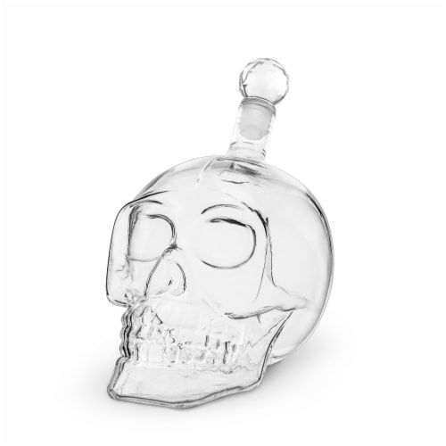 Foster & Rye 6060 Skull Liquor Decanter, Clear Perspective: top