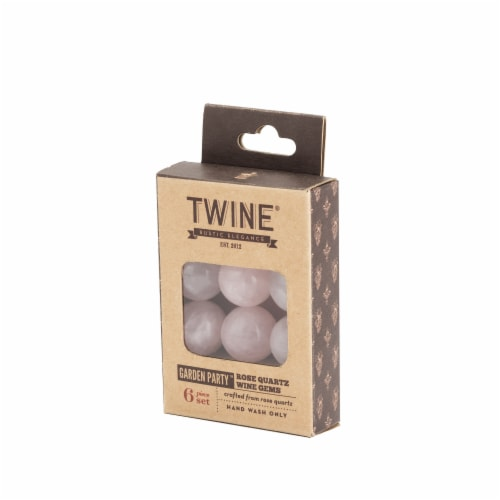 Rose Quartz Wine Gems Set of 6 by Twine® Perspective: top