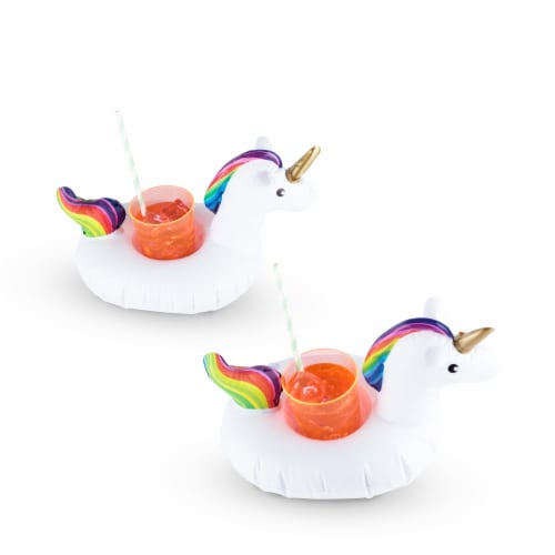 Unicorn Drink Floaties (set of 2) by TrueZoo Perspective: top