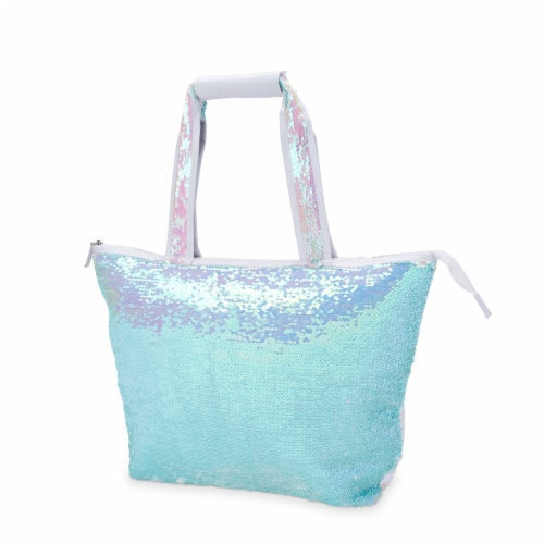 Mermaid Sequin Cooler Tote by Blush® Perspective: top
