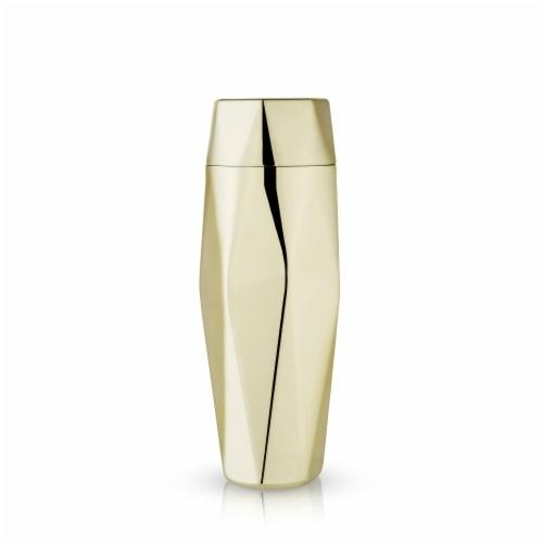 Viski 6425 30 oz Belmont Apex Faceted Cocktail Shaker, Gold Perspective: top