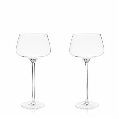 Angled Crystal Amaro Spritz Glasses by Viski® Perspective: top