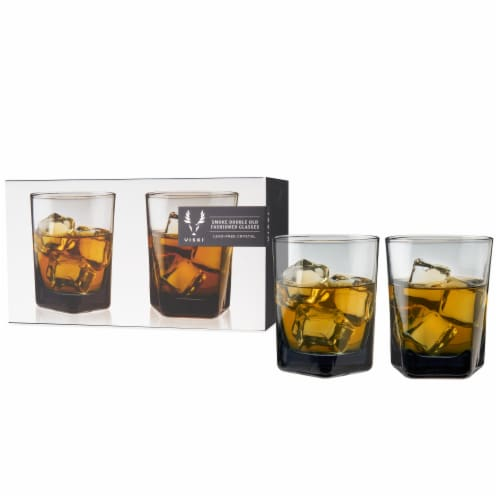 Smoke Double Old Fashioned Glasses by Viski® Perspective: top