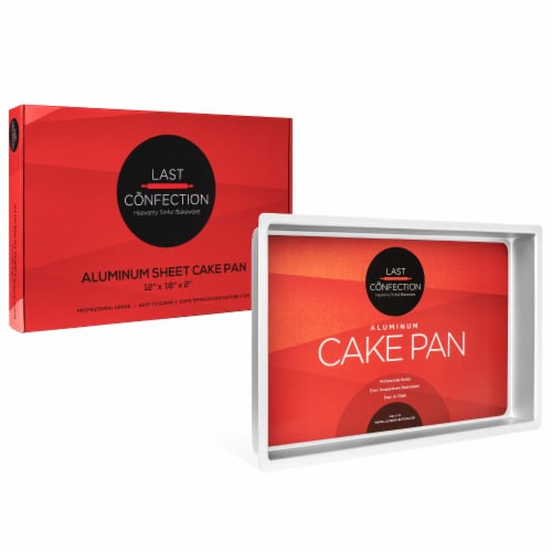 12  x 18  x 2  Deep Rectangular Aluminum Cake Pan by Last Confection Perspective: top