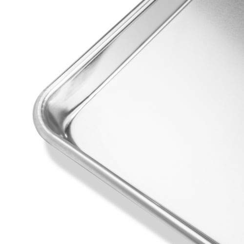 12 Cookie Baking Sheets Aluminum Jelly Roll Trays - Last Confection Perspective: top