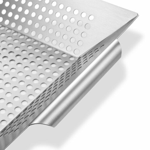 Vegetable Grilling Basket, Stainless Steel by Pure Grill Perspective: top