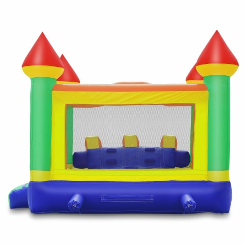 Commercial Mega Double Slide Castle Bounce House w/ Blower by Cloud 9 Perspective: top