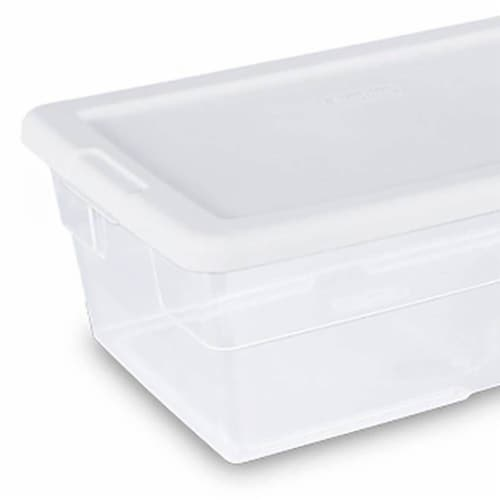 Sterilite 6 Quart Clear Plastic Stacking Storage Container Tote (108 Pack) Perspective: top