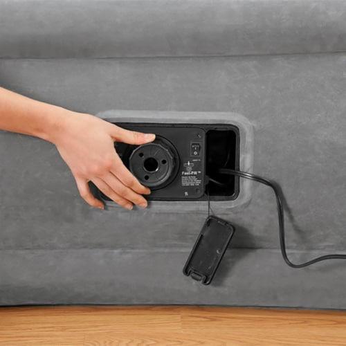 Intex Comfort Dura-Beam Elevated Twin Air Mattress w/ Built-In Pump (5 Pack) Perspective: top