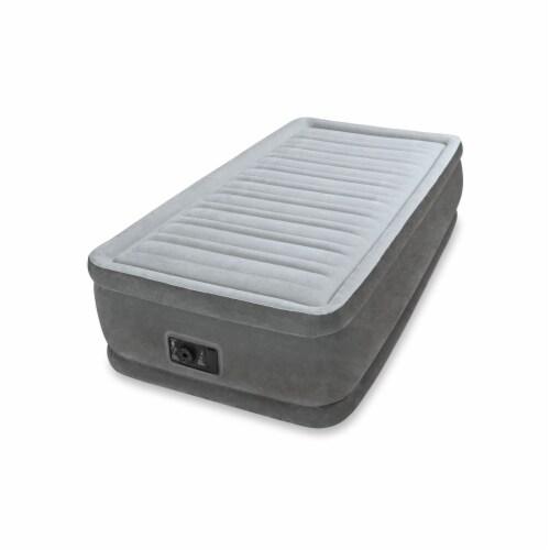 Intex Comfort Dura-Beam Elevated Twin Air Mattress w/ Built-In Pump (10 Pack) Perspective: top
