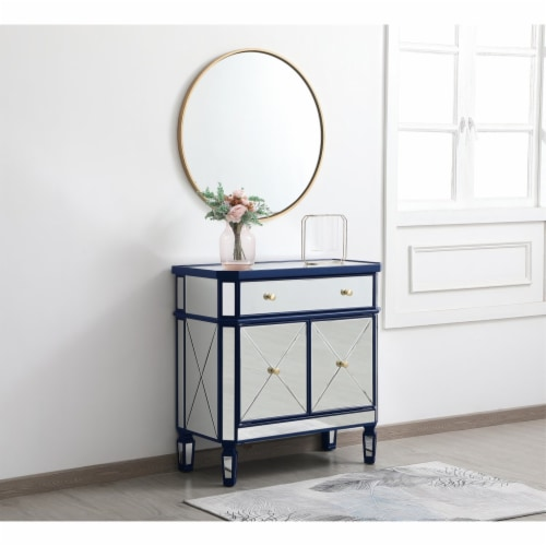 32 inch mirrored cabinet in blue Perspective: top