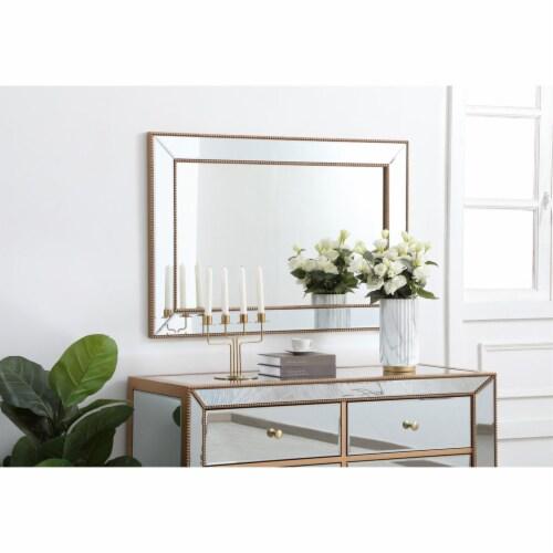 Iris beaded mirror 42 x 28 inch in antique gold Perspective: top