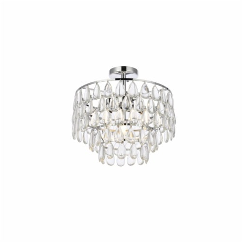 Mila 16 inch flush mount in chrome Perspective: top