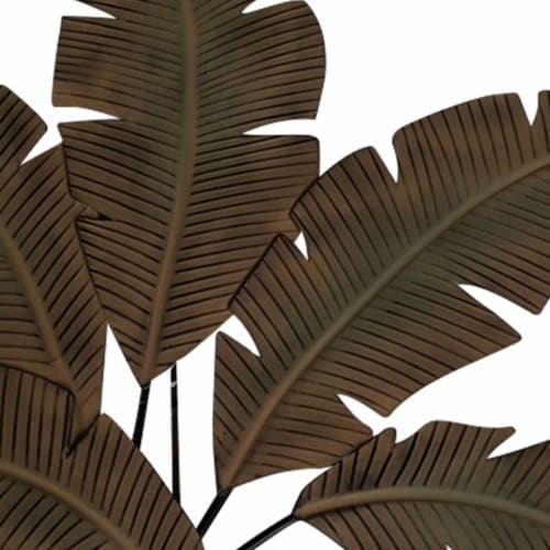 Benzara Metal Hanging Palm Leaf Perspective: top