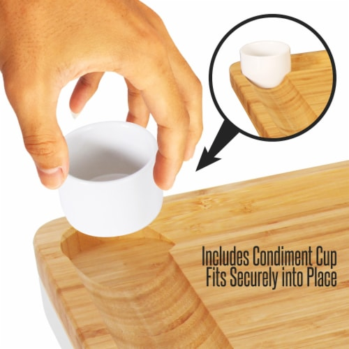 NutriChef PKCZBD10 Bamboo Cheese Cutting Board Perspective: top
