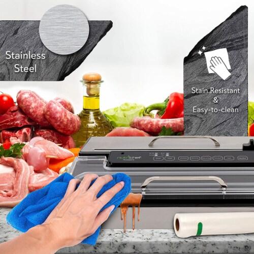 NutriChef PKVS50STS Kitchen Pro Food Electric Vacuum Sealer Preserver System Perspective: top