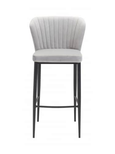 Zuo Luxurious Flared Back Tolivere Bar Chair Set of 2 -Gray Perspective: top