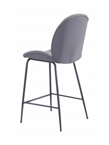 Zuo Modern Design Upholstered Miles Counter Chair - Gray Perspective: top