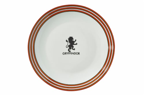 Harry Potter Gryffindor 16-Piece Dining Set | Set Includes Plates, Bowls, & Mugs Perspective: top