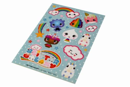 Glitter Galaxy Sticker Friends Sheet Wave 1 Perspective: top