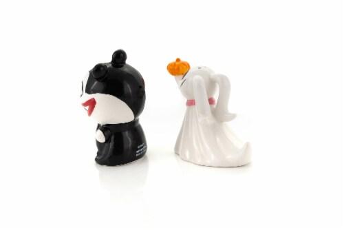Nightmare Before Christmas Scary Teddy & Zero Ceramic Salt & Pepper Shakers Perspective: top