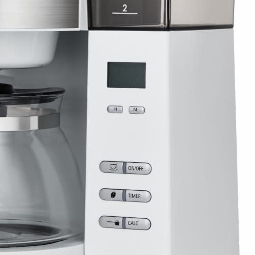 Melitta Drip Coffee Maker with Coffee Grinder Perspective: top