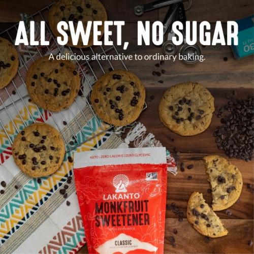 Lakanto Classic Monkfruit Sweetener - 1:1 White Sugar Substitute (1.76 lbs) Perspective: top
