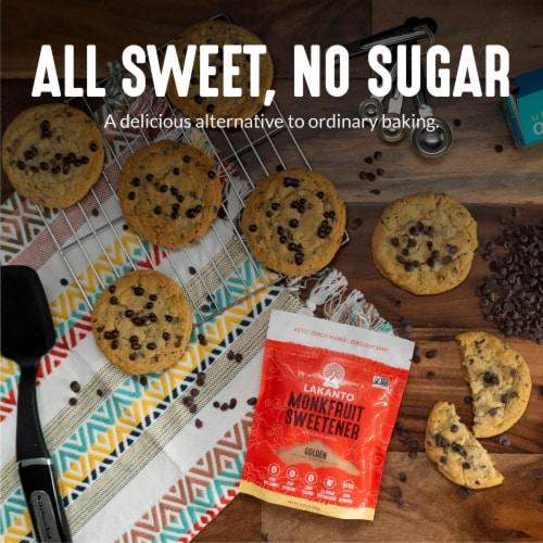 Lakanto Golden Monkfruit Sweetener - 1:1 Raw Cane Sugar Substitute (3 lb) Perspective: top