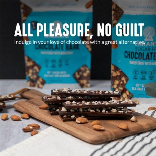 Lakanto Sugar Free Chocolate Bark - Sea Salt and Almonds, Sweetened with Monkfruit (5 Oz) Perspective: top