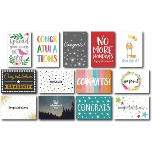 36-Pack Assorted Greeting Card w/ Envelopes, mostly Congratulations Cards, 4 x6 Perspective: top