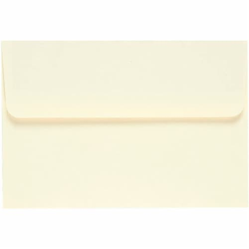 A4 Ivory Invitation Envelopes for Wedding, Birthday, Graduation (6x4 In, 50 Pack) Perspective: top