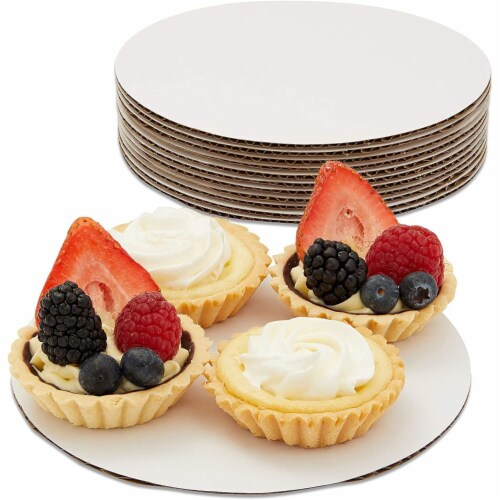 12-Pack Round Cake Boards, Cardboard Cake Circle Bases, 6 Inches Diameter, White Perspective: top