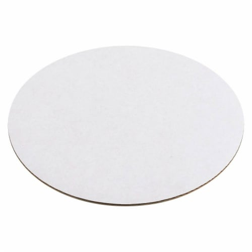 "12-Pack Round Cake Boards Cardboard White Cake Circle Base, 10"" Diameter Perspective: top"