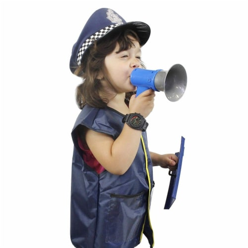 Halloween Costumes for Kids, Police Officer Uniform Costume (13 Pieces) Perspective: top