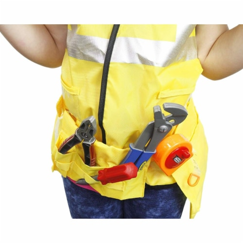 Kids Role Play Costume Set - 10-Piece Construction Worker Costume for Kids Perspective: top