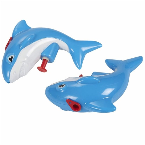 12 Pack Mini Plastic Shark Animal Squirt Guns for Kids Summer Pool Party, Ages 6 and Up Perspective: top