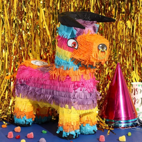 Bull Piñata for Kids Birthday Party or Cinco De Mayo (14.5 x 12 x 4.8 in) Perspective: top
