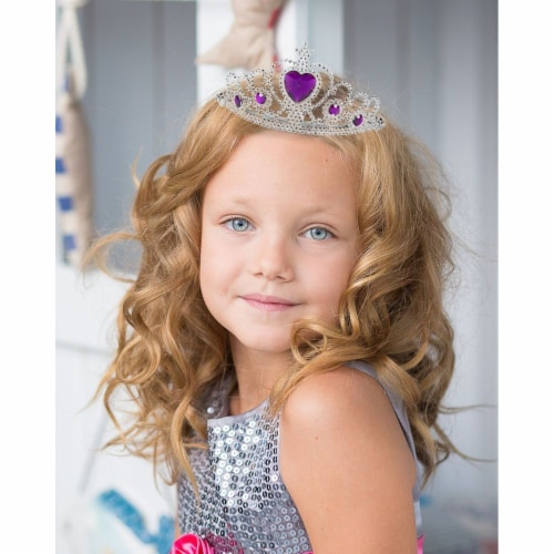 12-Pack Tiara Crown Rhinestone for Little Girl Princess Dress Up Party, 4 Colors Perspective: top