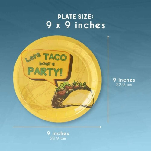 24 Set Mexican Taco Fiesta Party Pack Supply Plate Knives Spoon Fork Napkin Cup Perspective: top