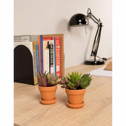 Juvale Small Terra Cotta Pots with Saucer- 16-Pack Clay Flower Pots with Saucers Perspective: top