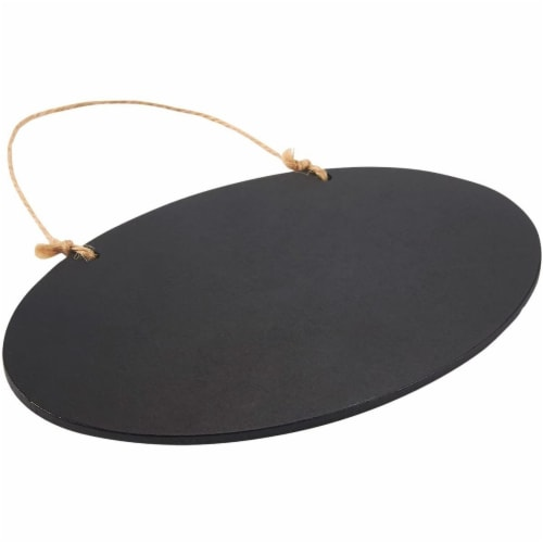 Hanging Reusable Oval Chalkboard Signs for Party and Decoration (8 Pack) Perspective: top